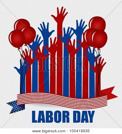 Happy Labor day card design, vector illustration.