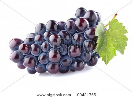 Sweet grape with leaf