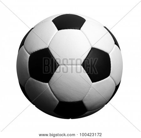 soccer ball isolated on white. football with shadow. sports icon.