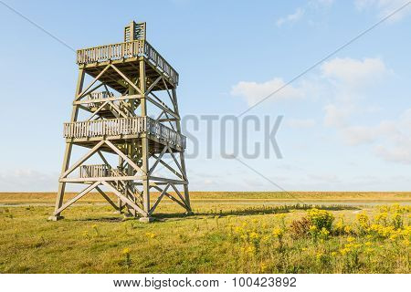 Wooden Observation Tower From Close