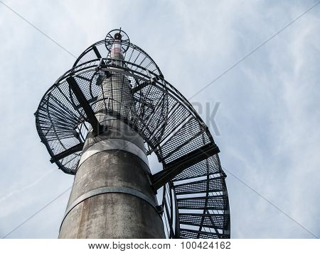 Lookout tower built on  TV transmitter,