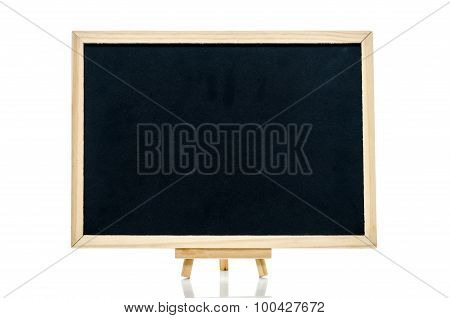 Close up of blackboard on white background isolated
