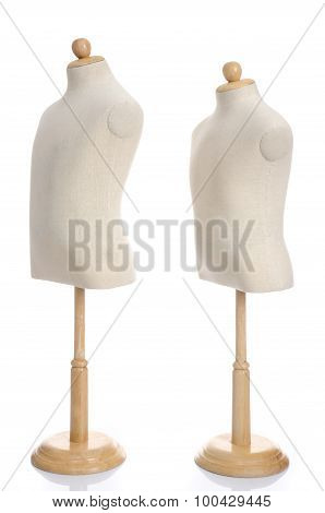 Close Up Of Dummies On White Background