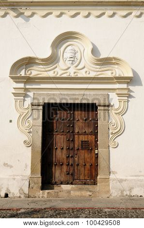Guatemala, Colonial House In Antigua City