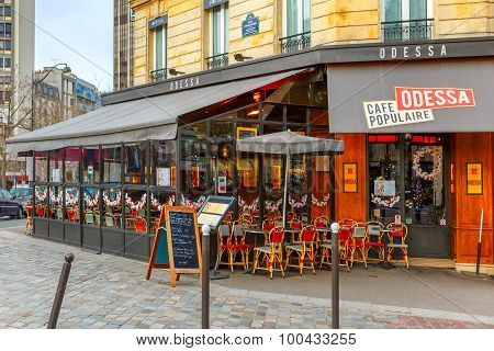 Cafe Odessa on the Boulevard Montparnasse in Paris