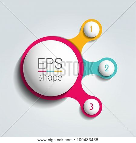 Three Steps Elements Bubble Chart.