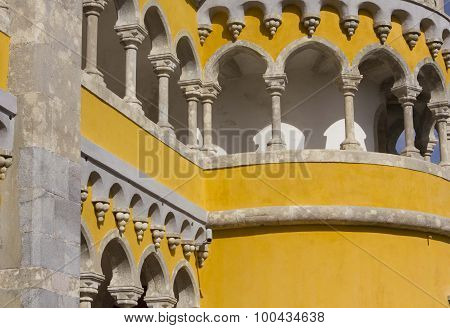 Tower Close Up Of Pena Nacional Palace In Sintra