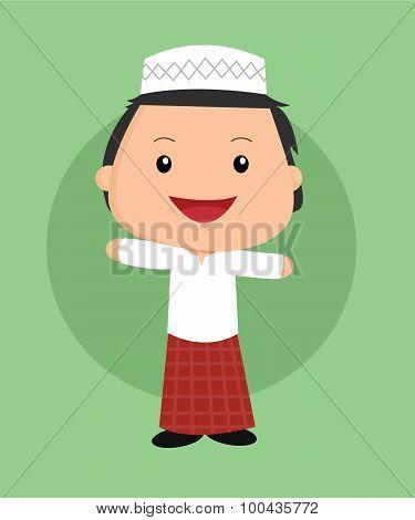 Cute islamic boy