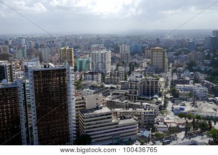 view across the city of dar es salaam, tanzania