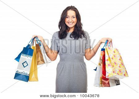 Pretty Woman Lifting Shopping Bags