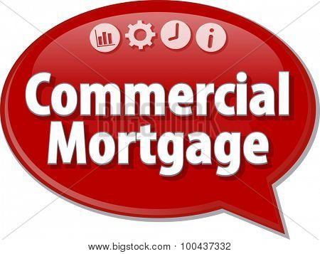 Speech bubble dialog illustration of business term saying Commercial