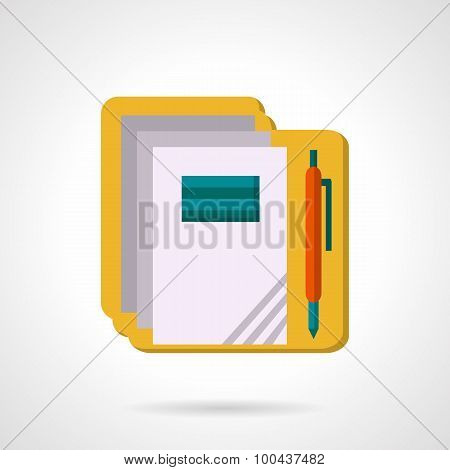 School supply flat color vector icon.
