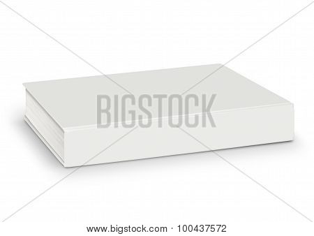 Blank Of Empty White Book Isolated With Path
