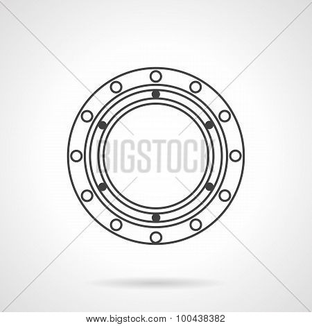 Bearing flat line vector icon