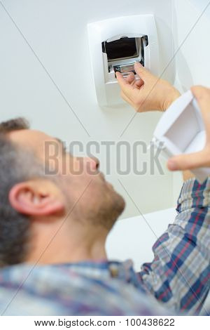 Installing a motion sensor at home