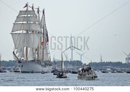The Esmeralda Tall Ship On The Ij River
