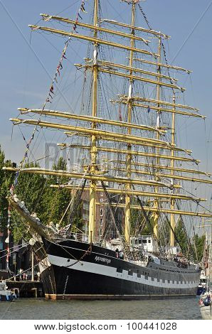 Frontal View Of The Tall Ship Kruzenshtern
