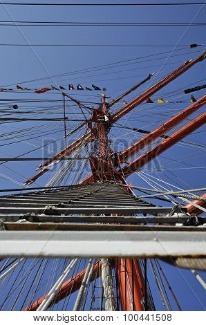 The Main Mast Of The Sedov Tall Ship