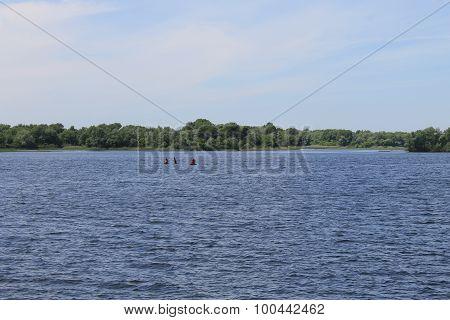 Dnieper river in Ukraine
