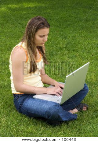 Laptop Girl poster