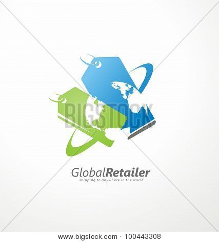 Online shop logo design layout
