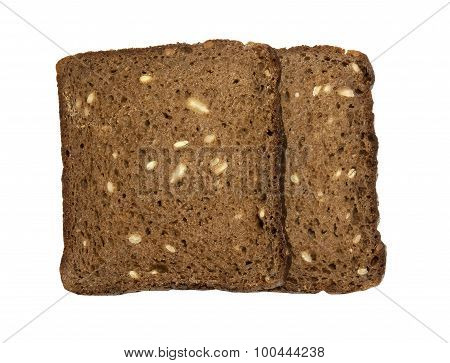 Healthy 100% rye bread with sunflower seeds