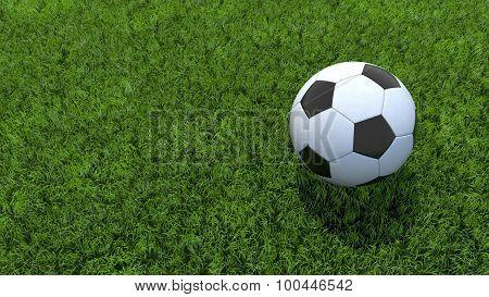 Soccer Ball Football On Grass V02