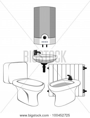 Sanitary Equipment Set