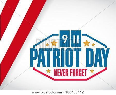 Patriot Day Us Stamp Illustration Design