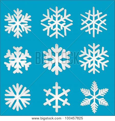 Set Paper Snowflakes