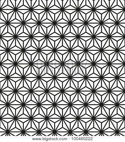 Seamless vector geometric pattern