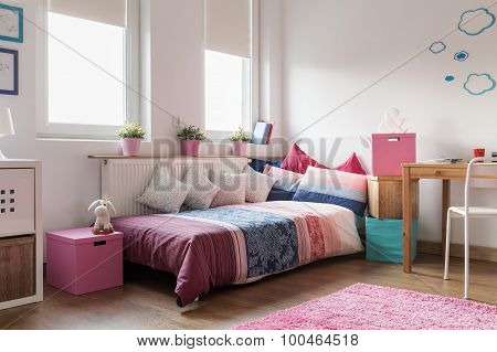 Rose Accessories In Teen Room