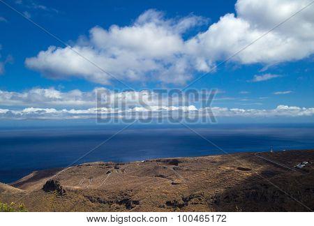La Gomera, Canary Islands, View Towards South Coast