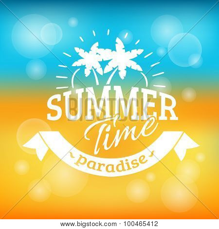 Summer holiday vacation background poster