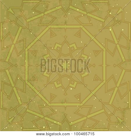 Ornamental brown vector pattern for background