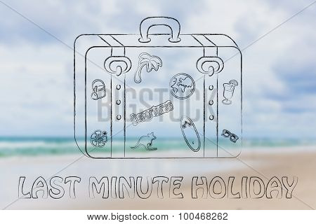 Last Minute Holiday, Baggage Illustration