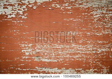 Cracked Surface On Old Wooden Desk