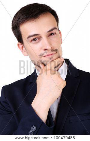 Elegant man in suit close up