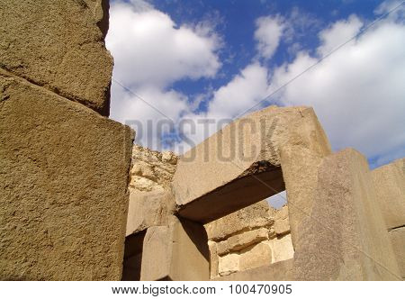 Stone Blocks Of The Temple In Egypt.