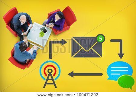 E-mail Instant messaging Internet Envelope Online Concept
