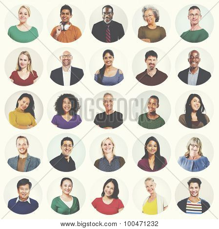 Diverse People Multi Ethnic Variation Casual Concept