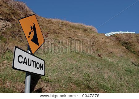 Landslide Road Sign