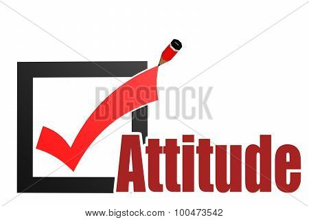 Check Mark With Attitude Word