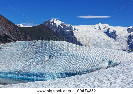 Lake on Kennicott glacier, Wrangell-St. Elias National Park, Alaska