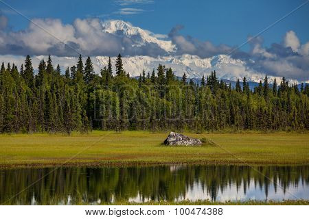 Denali (McKinley) peak in Alaska, USA
