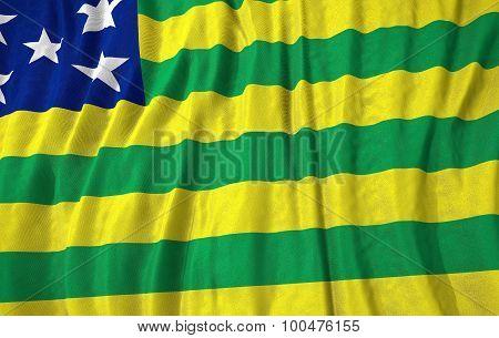 Corrugated Brazilian State Goias Flag
