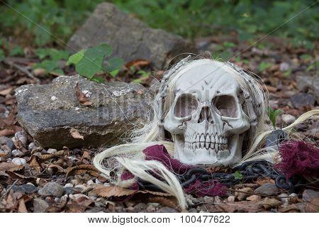Grim Reaper Halloween Skull