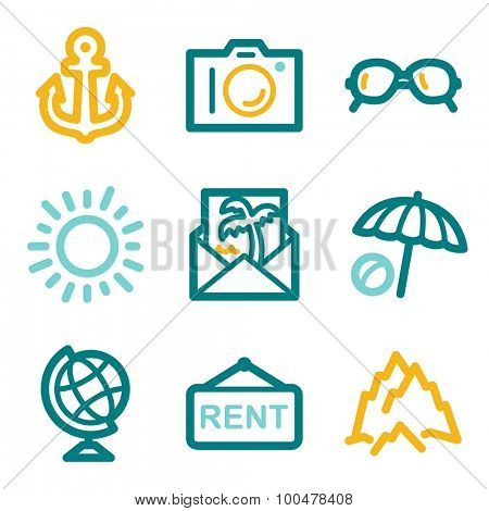 Travel web icons
