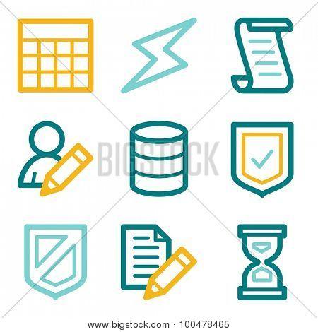 Database web icons