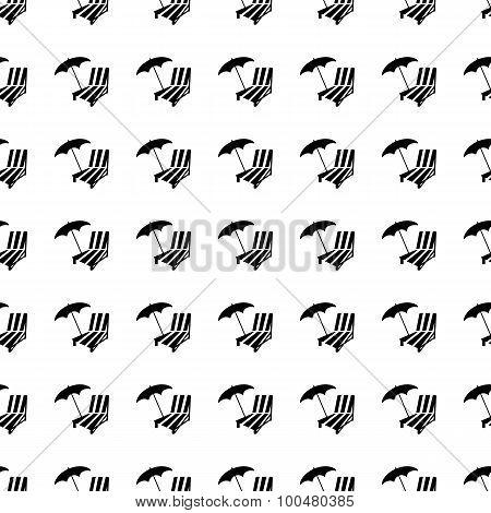 Parasol Seamless Pattern. Vector